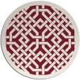 rug #886383   round pink borders rug