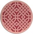 rug #886387 | round pink borders rug