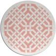 rug #886391 | round pink borders rug