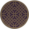 rug #886403 | round mid-brown traditional rug