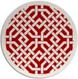 rug #886411 | round red borders rug