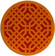 rug #886415 | round red traditional rug