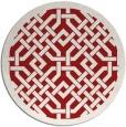 rug #886419 | round red borders rug