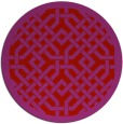 rug #886423   round pink traditional rug