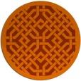 rug #886427 | round red-orange traditional rug