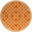 rug #886431 | round red-orange traditional rug