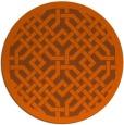 rug #886435 | round red-orange borders rug