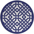 rug #886451 | round white traditional rug