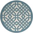 rug #886459 | round blue-green borders rug