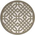 rug #886463 | round beige borders rug