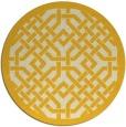 rug #886467 | round yellow borders rug
