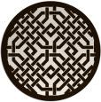 rug #886475 | round brown borders rug