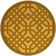 rug #886483 | round yellow traditional rug