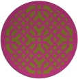 rug #886499 | round pink traditional rug
