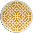 rug #886507 | round light-orange geometry rug