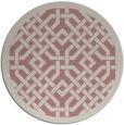 rug #886511 | round pink borders rug
