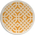 rug #886519 | round light-orange geometry rug