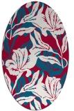 rug #886975   oval red natural rug