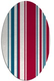 rug #886995 | oval red stripes rug