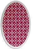 rug #887015 | oval red borders rug
