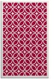 rug #887019 |  red geometry rug