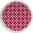 rug #887023 | round red borders rug
