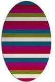 rug #887115 | oval red rug