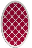 rug #887275 | oval red traditional rug