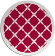 rug #887283   round red traditional rug