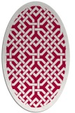 rug #887315 | oval red borders rug