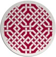 rug #887323 | round red borders rug