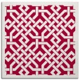 rug #887331 | square red borders rug