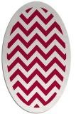 rug #887575 | oval red stripes rug