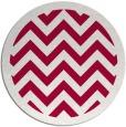 rug #887583   round red stripes rug