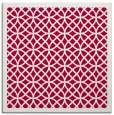 rug #887611 | square red circles rug