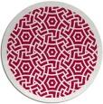 rug #887683 | round red borders rug