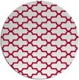rug #887843 | round red traditional rug