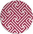 rug #887863 | round red retro rug