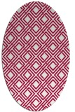 rug #887915 | oval red check rug