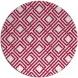rug #887923 | round red check rug
