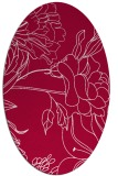 rug #887955 | oval red graphic rug