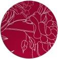 rug #887963 | round red popular rug