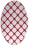 rug #887975 | oval red traditional rug