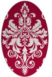 rug #888135 | oval red traditional rug