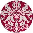 rug #888143 | round red damask rug