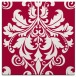 rug #888151 | square red traditional rug
