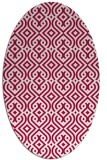 rug #888220 | oval red retro rug