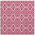 rug #888236 | square red retro rug