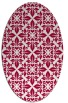 rug #888260 | oval red traditional rug
