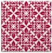 rug #888276 | square red traditional rug